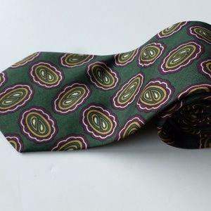 Burberry Vintage Silk Tie Paisley Green